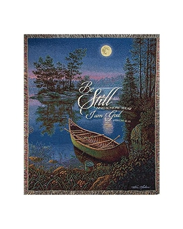 Be Still And Know Moonlight Bay Throw