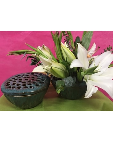 Lotus Bowl Flower Arrangement