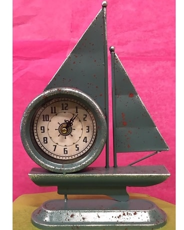 Sail Clock Flower Arrangement