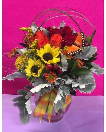 Butterfly Kisses Flower Arrangement