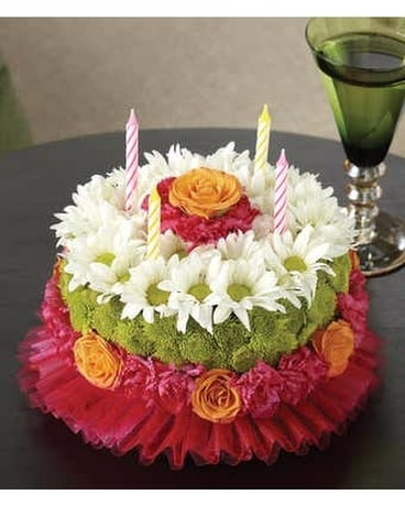 Happy Birthday Flower Cake Flower Arrangement