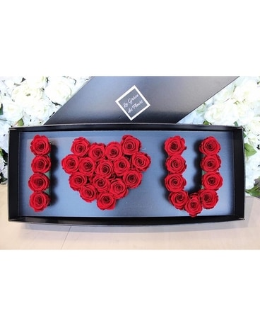 I LOVE YOU FLOWERBOX Flower Arrangement