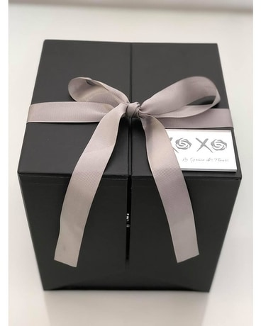 Black Signature Gift Box Flower Arrangement