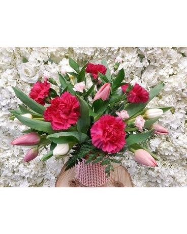 Beauty of tulip and carnation Flower Arrangement