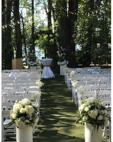 Out Door Wedding Flower Arrangement