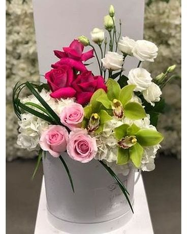 Touch of pink Signature box Flower Arrangement