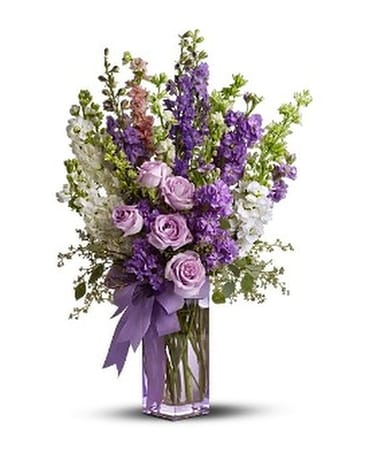 Teleflora's Pretty in Purple Flower Arrangement