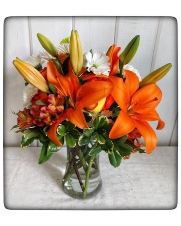 Tequila Sunrise Flower Arrangement