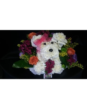 Puppy Girl Flower Arrangement