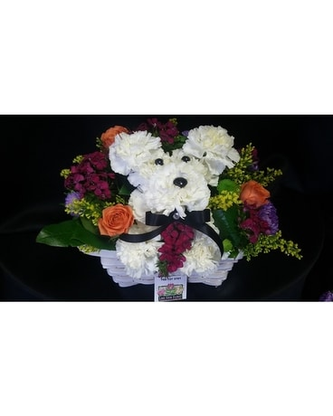 Puppy Boy Flower Arrangement