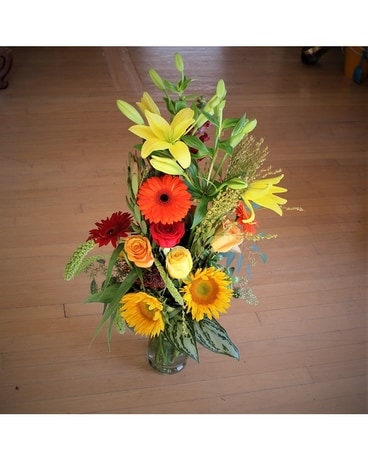 Tall and Fall Flower Arrangement