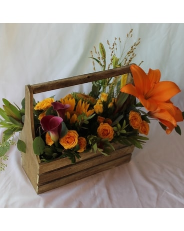 Basket of Fall Flowers Basket Arrangement