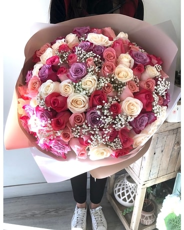 Pinky Love For You (99 roses)