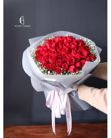Passionate Red Roses by Secret Garden (52 Roses) Flower Arrangement