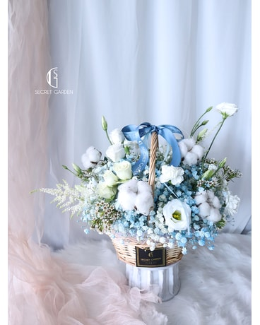 Inspiration Basket by Secret Garden Flower Arrangement