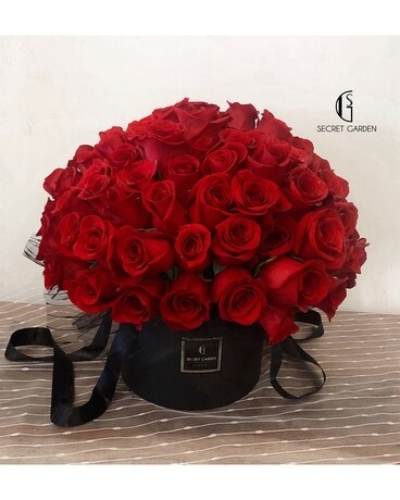 Red Flame (99 roses) Flower Arrangement