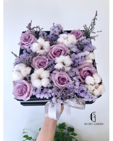 Lavender Cotton Candy Flower Arrangement