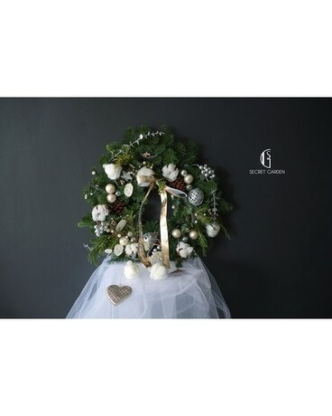 Christmas Wreath (White)