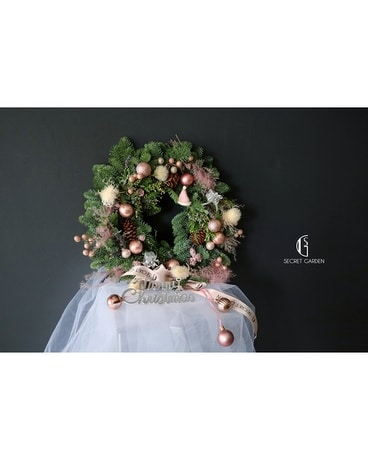 Christmas Wreath (Pink)