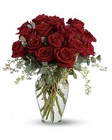 Full Heart - 16 premium roses Flower Arrangement