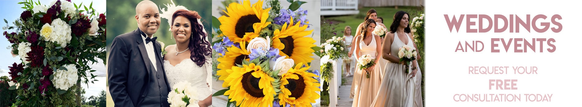 wedding flower arrangements Baltimore Maryland