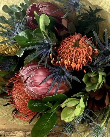 Mixed Tropical & Protea Bunch Flower Arrangement
