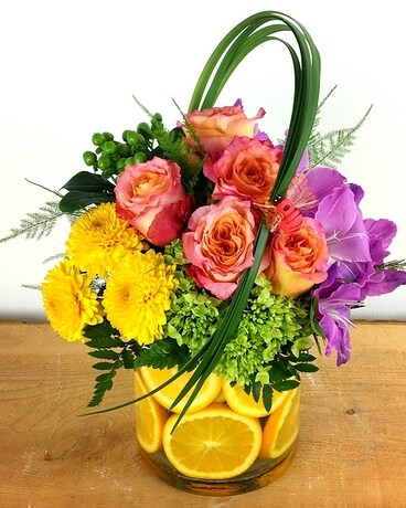 Punch Bowl Flower Arrangement