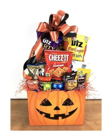 Halloween Pumpkin Gift Basket