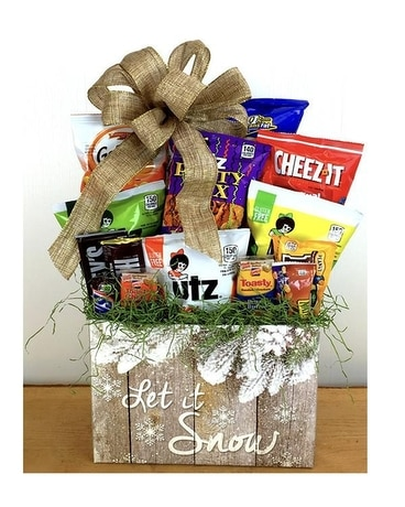 Let It Snow Snax's Gift Basket