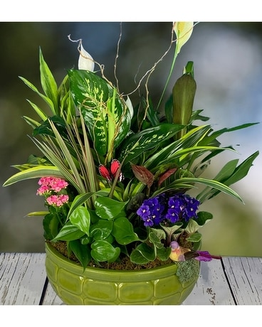 Peaceful Botanical Flower Arrangement