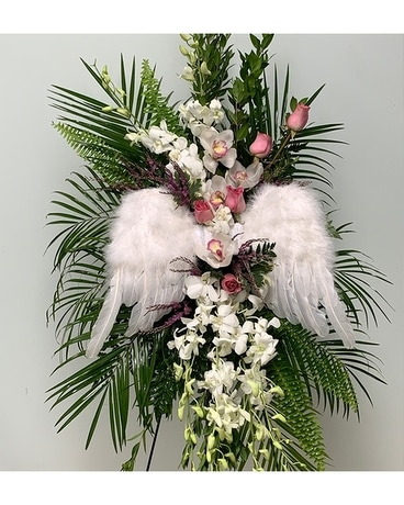 Whispering Angel Wings Flower Arrangement