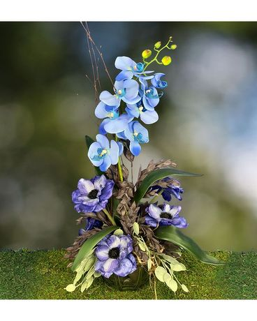 Skye Blue Flower Arrangement