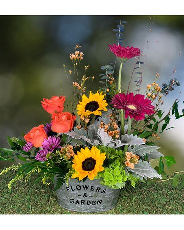 Summer Garden Flower Arrangement