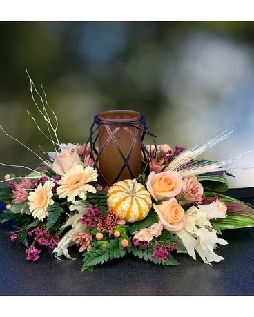 Warm Autumn Light Flower Arrangement