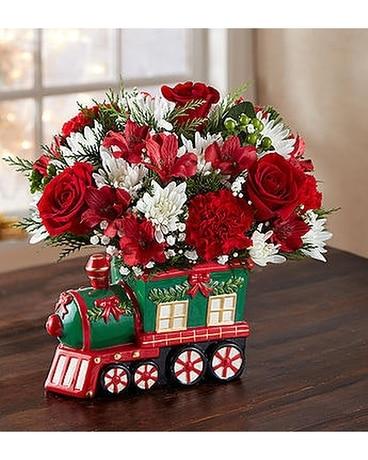 Christmas Express Train by 1800flowers Flower Arrangement ...