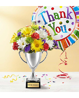 Trophy Bouquet To Say Thank You Flower Arrangement