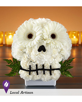 Spooky Skull Flower Arrangment Flower Arrangement