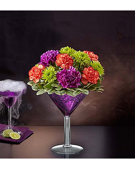 Shocktail Martini Bouquet Flower Arrangement