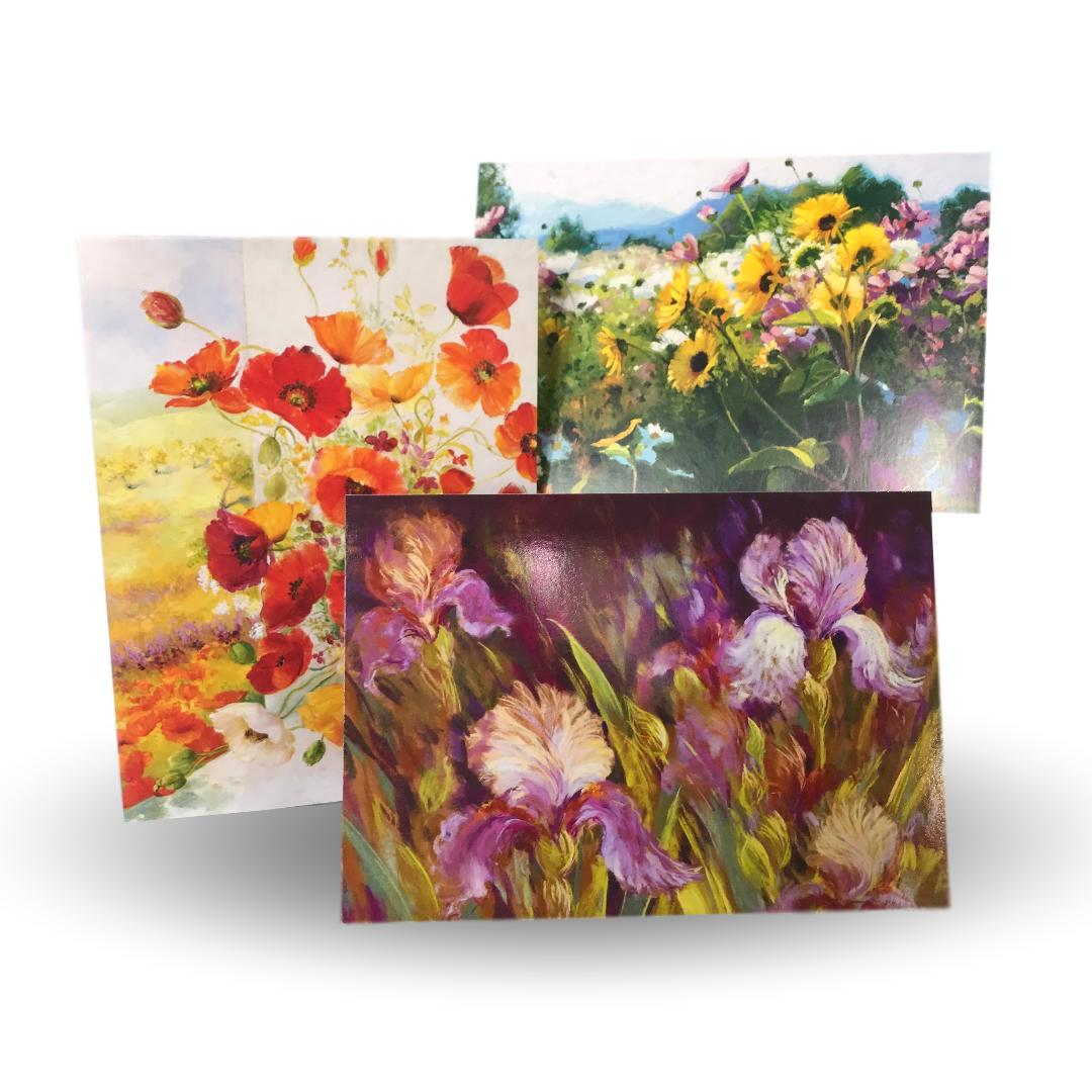 Let us write a personal message on a beautiful floral enclosure card.