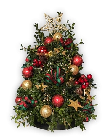 Deck the Halls Tree Flower Arrangement