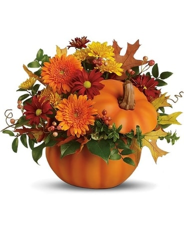 Somethin' Pumpkin Flower Arrangement
