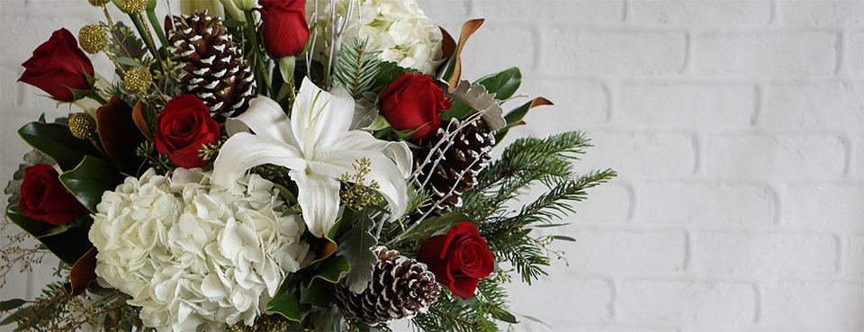 James Cress Christmas and Holiday Flowers Banner
