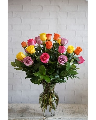 Two Dozen Rainbow Roses