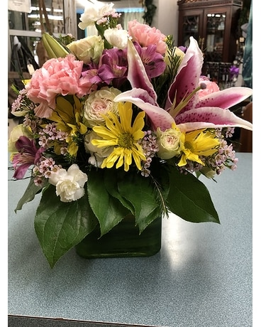 Large Cube Flower Arrangement