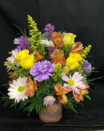 Peach Shimmer Flower Arrangement