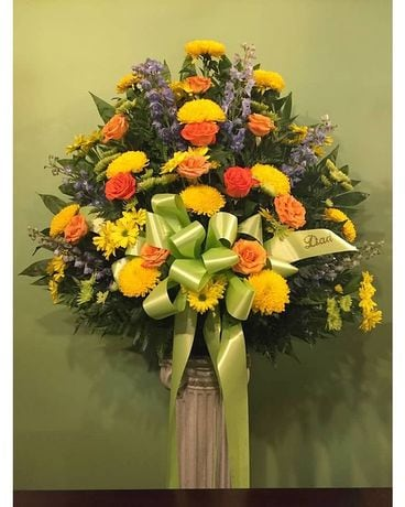 Traditional Funeral Arrangement Flower Arrangement
