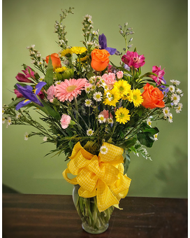 Deluxe Garden Boquet Flower Arrangement