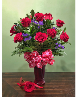 Classic Dozen- Red Flower Arrangement