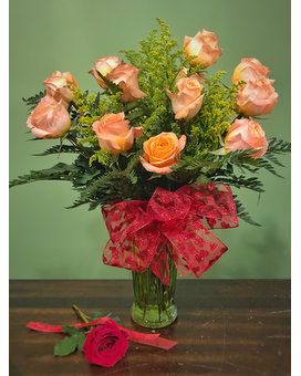Classic Dozen - Orange Flower Arrangement