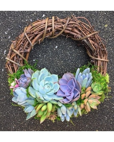 Succulent Wreath Workshop March 19, 2019 Flower Arrangement